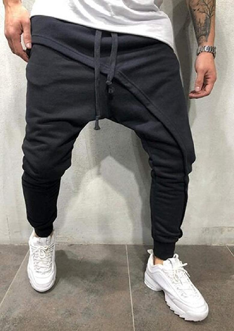 SHOWNO Mens Hip Hop Slim Fit Gym Workout Casual Jogger Pants Sweatpants Trousers