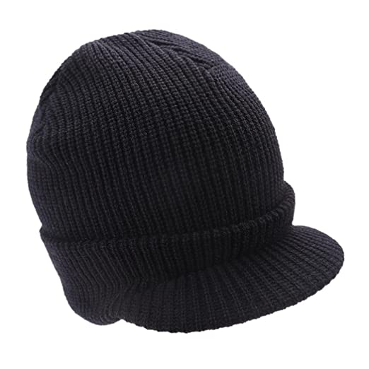 Corgy CC Exclusives Women s Ribbed Knit Hat with Brim Black at ... 7a9b190466c