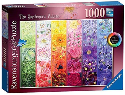 Ravensburger The Gardener's Palette No.1 - Cottage Garden, 1000pc Jigsaw Puzzle [19800] (The Gardener Cottage)