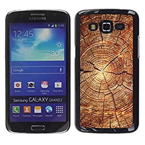 TaiTech / Prima Delgada SLIM Casa Carcasa Funda Case Bandera Cover Armor Shell PC / Aliminium - Bloque de madera del patrón - Samsung Galaxy Grand 2