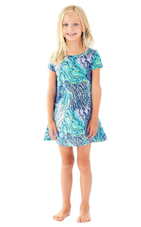 Amazon.com: Lilly Pulitzer Girls Mara Swingy Tshirt Dress - Blue ...