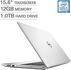 Dell Inspiron 15 5000 15.6-inch Touchscreen FHD 1080p Premium Laptop, Intel Quad Core i5-8250U Processor, 12GB RAM, 1TB Hard Drive, DVD Writer, Backlit Keyboard, Bluetooth, Silver (Renewed)
