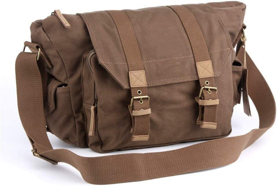 Color : Khaki, Size : 30x18x28cm Rnwen Camera Backpack Digital Camera Bag Canvas Digital Camera Bag Outdoor Canvas Camera Bag Casual Shoulder Camera Bag Camera Cases
