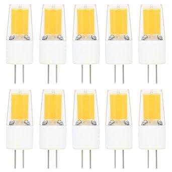 10X G4 Bombillas LED 3W COB LED Lámpara Blanco Cálido 3000K 270LM LED Bulb Reemplaza 30W