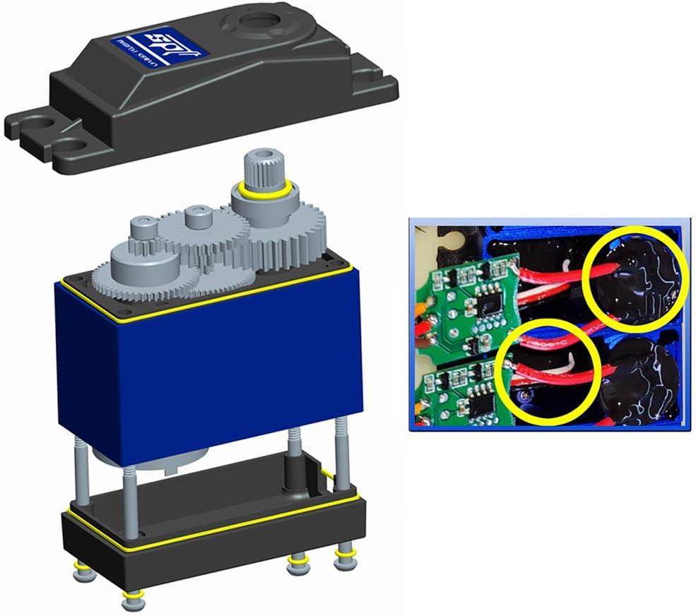 180 W 35 kg 2BB rodamientos de torsi/ón grande impermeable de metal engranaje servo digital duradero y resistente