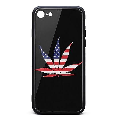 new arrival ccb7e ab705 Amazon.com: American Flag Pot Leaf Marijuana Freedom Best Phone case ...