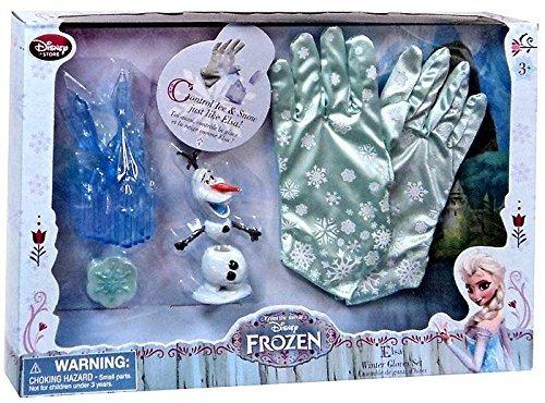 Disney Store Frozen Elsa Winter Gloves Costume Accessory Set -