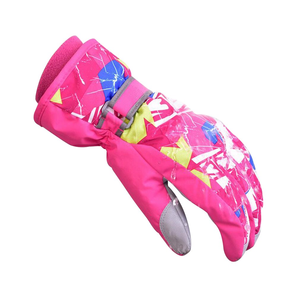 Eastlion Children Outdoor Winter Gloves Warm Thickening Waterproof Windproof Skiing Riding Cycling Climbing Gloves