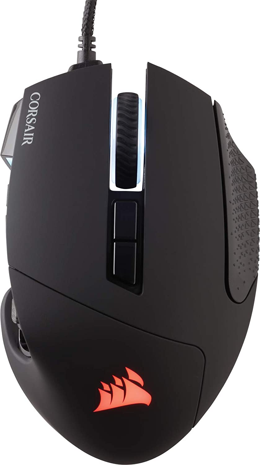 Corsair Scimitar Pro RGB Optical MMO Gaming Mouse (16,000 DPI Optical  Sensor, 12 Programmable Side Buttons, 4-Zone RGB Multicolour Lighting,  On-board