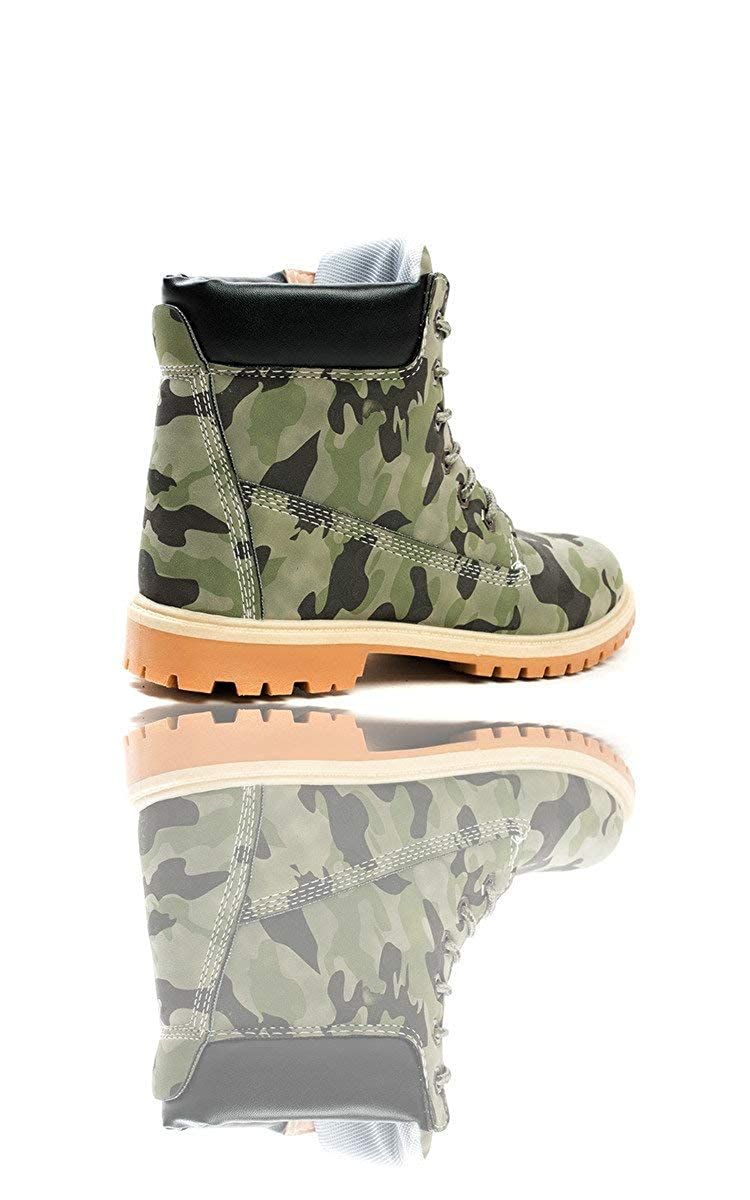 5ae23d248 Ikrush Womens Tiana Lace Up Desert Boots CAMO UK 3  Amazon.co.uk  Shoes    Bags