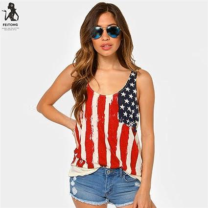2017 nueva moda para mujer Americal bandera impresión blusa, ninasill exclusivo día