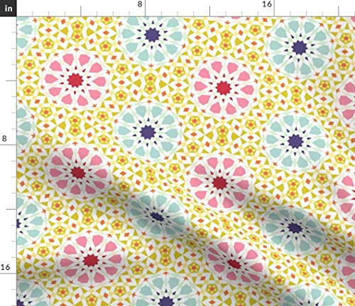(Spoonflower0229 Fabric - Decagon Star Islamic Moroccan Ua5vplus by Sef Printed on Lightweight Cotton Twill Fabric by The)