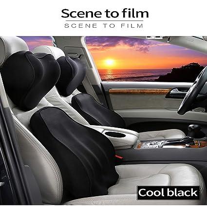 Almohada para asiento de coche, cojín lumbar para silla de ...