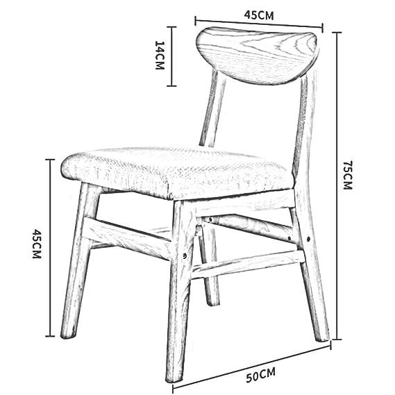 Amazon.com: Silla de comedor Dall, silla de escritorio con ...
