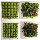 Mr Garden Vertical Garden Grow Bag, Wall Hanging Felt Planter Bag 36 Pockets Indoor/Outdoor Herbs Flowers, Green