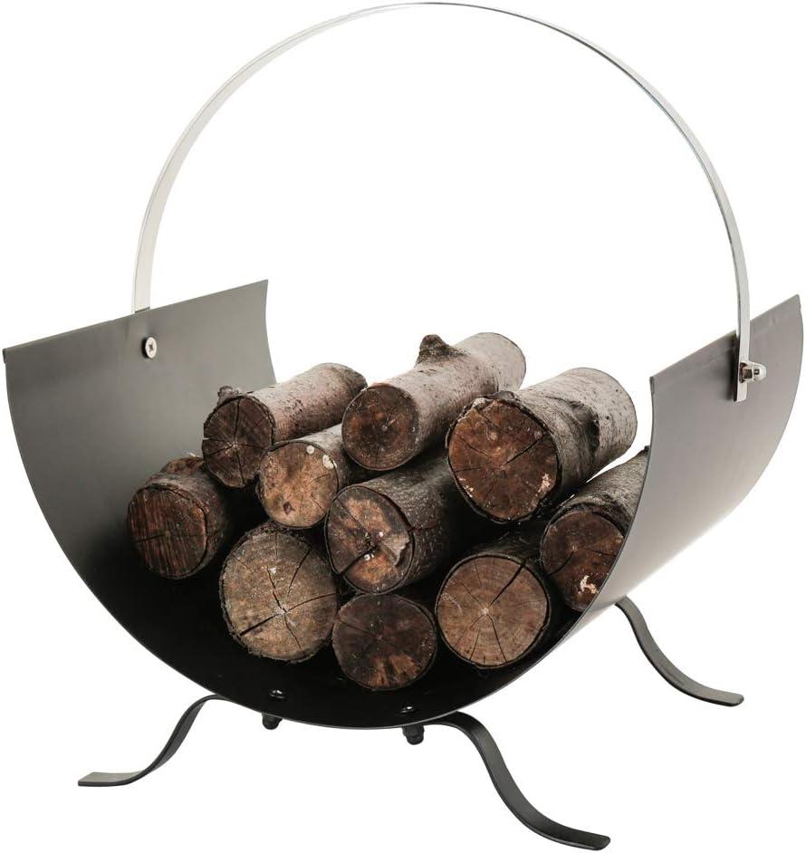 Antique Pewter Kindling Storage Tub Fireside Log Burner BBQ Firepit Accessory