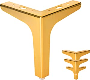 Furniture Legs 6 inch Metal Legs,Modern Style Furniture Sofa Legs Set of 4,Sofa Replacement Parts,for Dresser Legs Sideboard Recliner Couch Circle Chair Couch Riser Coffee Table