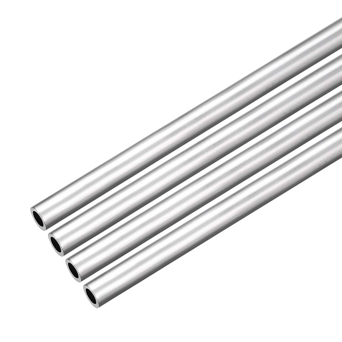 uxcell 4Pcs 6063 Seamless Aluminum Round Straight Tubing Tube 1 Feet Length 0.195 Inches ID 0.273 Inches OD