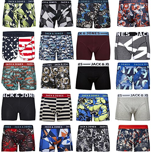 Jack Jones Boxershorts 4er Pack Mix Trunks Boxer Short Unterhose S,M,L,XL,XXL