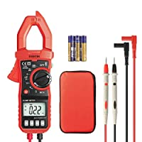 Digital Multimeter Clamp Meter, Eventek ET820 Strommesszange Spannungsprüfer für AC / DC, AC-Strom, Spannung, Widerstand,Kontinuität