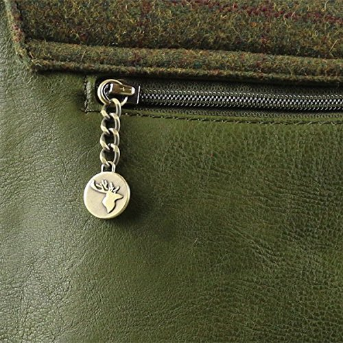 Messenger Tweed Bag Country Tweed Bag Messenger Green Green Tweed Messenger Country xIqHw6CC5