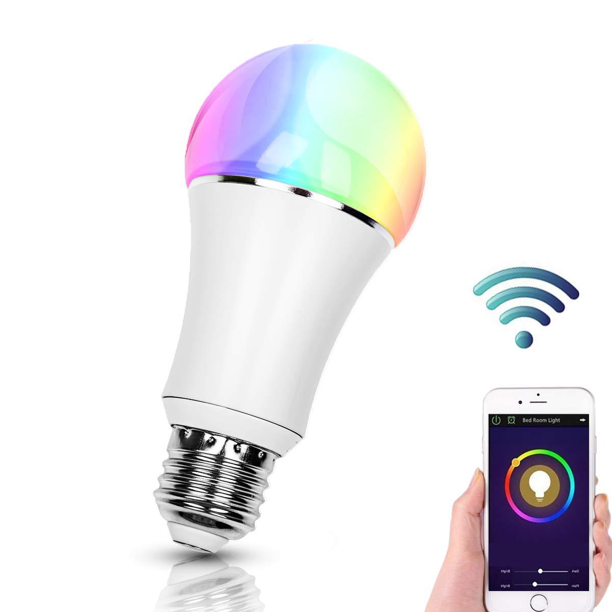 Smart Alexa Lampe,FEYG Zwei Pack Wi-Fi E27 LED Smart Glühbirne RGB Dimmbar Kompatibel Mit  Alexa,steuerbar via App, Sbis zu 16 Millionen Farben,wählen Sie zuerst Smart Home … wählen Sie zuerst Smart Home ...