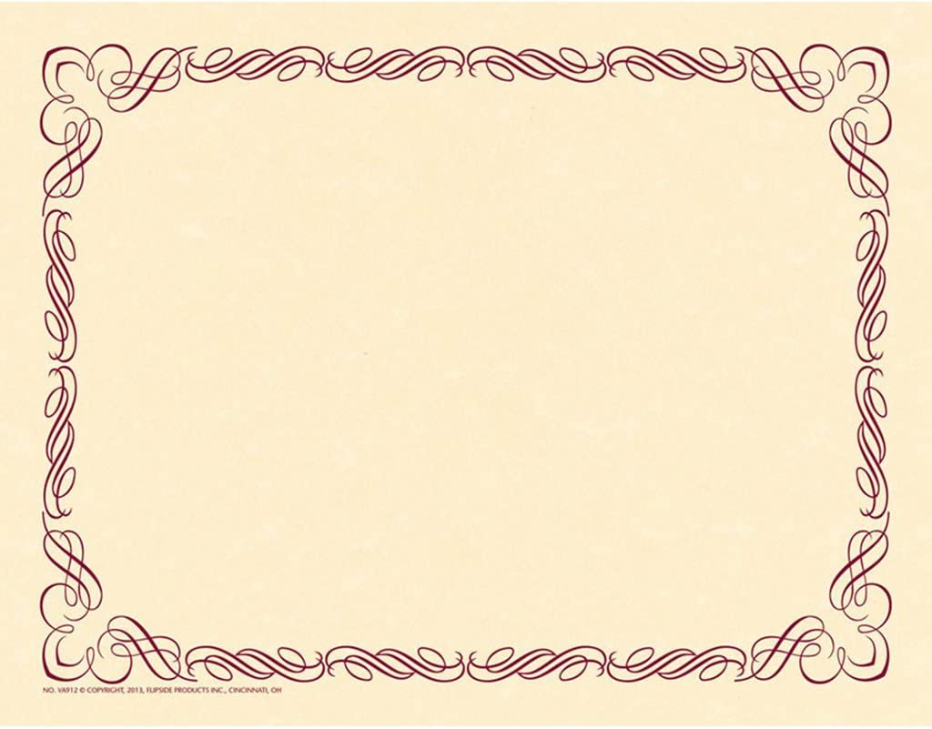 Red//Gold Pack of 250 Border Papers only 16 Cents Each