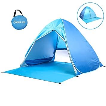 Sumerice Beach Tent Automatic Pop Up Baby Sun Shelter Portable Cabana Sun Tent (Blue)  sc 1 st  Amazon.com & Amazon.com: Sumerice Beach Tent Automatic Pop Up Baby Sun Shelter ...