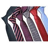 Zakka Republic 6pcs Mens Fashion Business Skinny Necktie Tie Mixed Set (BTS-02A)
