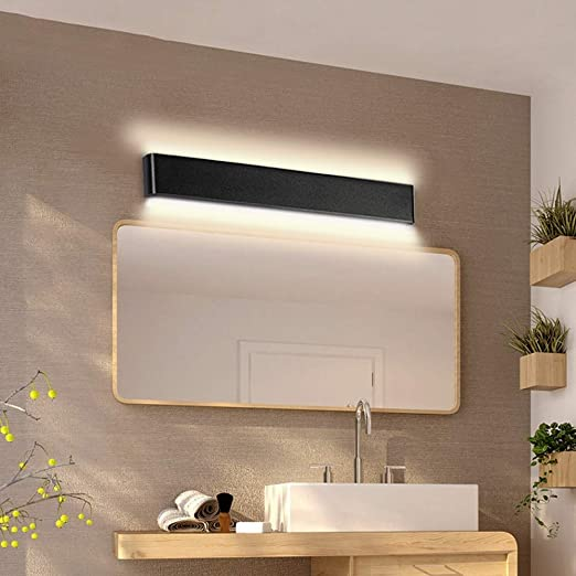 LED Lámpara de pared rectangular moderna Apliques de pared - Luz de pared for interior Vanidad Luz Camino Escalera Dormitorio Corredor Sala de estar Accesorios de iluminación for el hogar (Negro): Amazon.es: