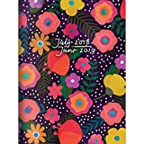 #3: TF Publishing 19-4205A July 2018 - June 2019 Blooming Monthly Planner, 7.5 x 10.25, Black & Pink