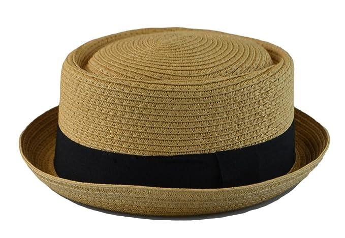 b983e3c710940 Mens Summer Fedora Cuban Style Upturn Short Brim Stiff   Thick S M ...