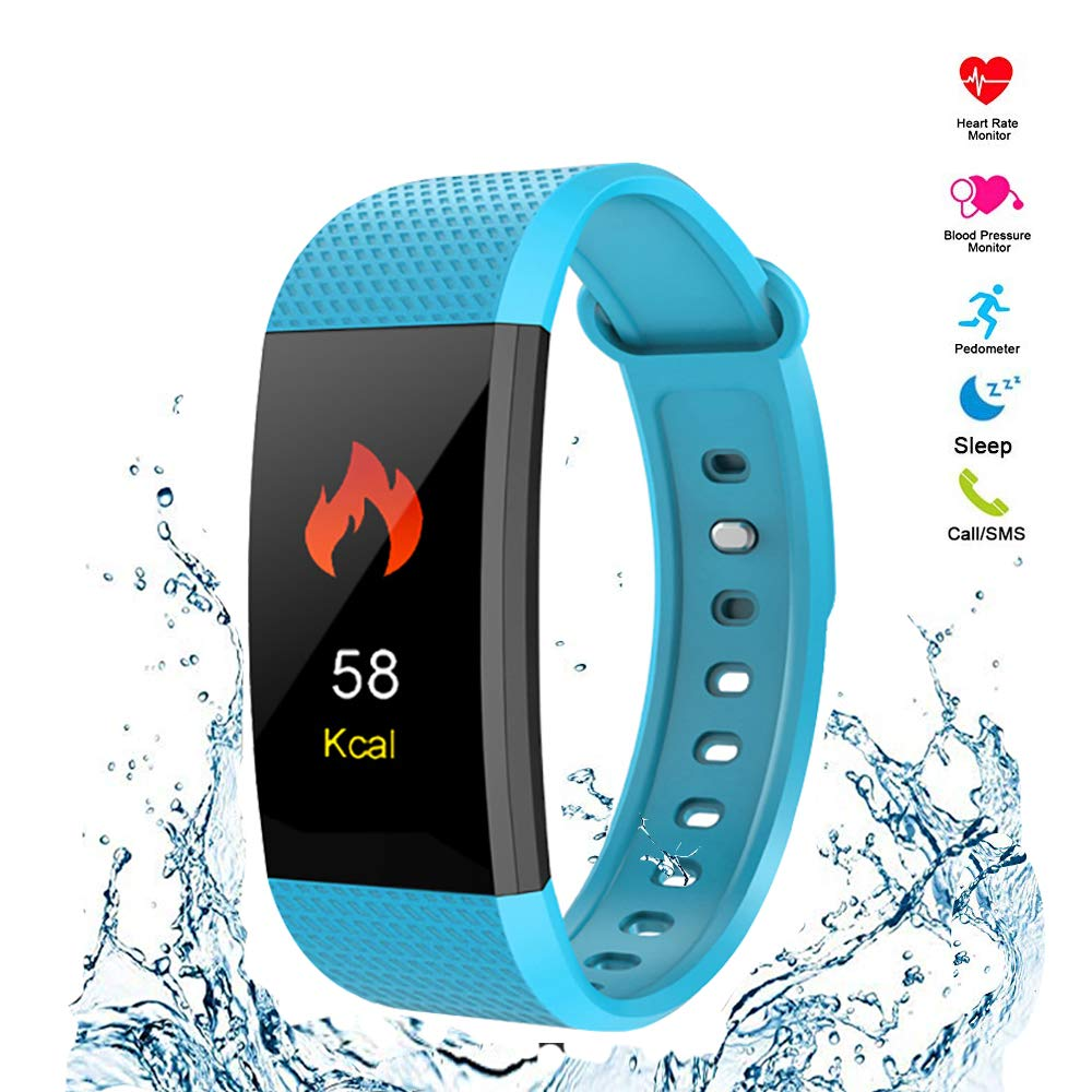 LANHOU Activity Tracker with Heart Rate Monitor, Fitness Tracker IP68 Waterproof with Sleep Monitor, Stept Distance Calories Track, Call and SMS Reminder for Women, Men, Kids, Android, iOS
