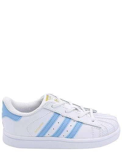 sports shoes 79d42 288e6 Adidas Original BW1279   White Light Blue Superstar Toddler Sneaker (10 M  US Toddler,