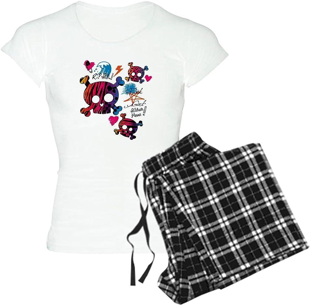 CafePress Peace Love Music Womens Dark Pajamas Womens PJs