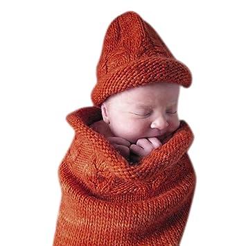 Wyxlink Baby Blanket Swaddle Sleeping Bag Kids Knitting Hood Sleep