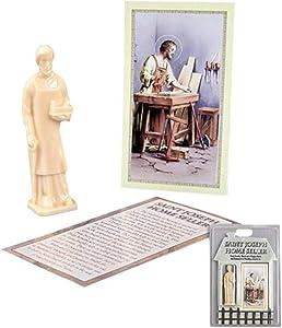 Saint Joseph The Worker Home Seller Kit, 3 1/2 Inch
