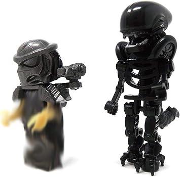 Modbrix Alien vs Predator Mini Figuras Alien xenom orph & Predator: Amazon.es: Juguetes y juegos