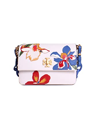 ad7da76cb42 Tory Burch Kira Applique Floral Leather Mini Shoulder Bag in Painted Iris   Amazon.co.uk  Clothing