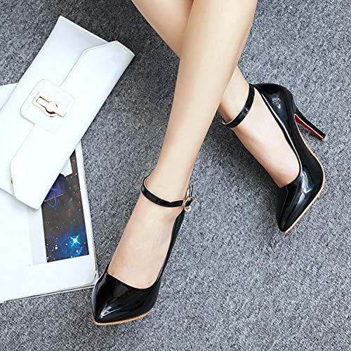 Aguja Cerrada Zapatos Honor Red Pintura Sandalias Tacones Corte Dama Nupcial Hlg Mujer Boda Stiletto De aOqYwIp