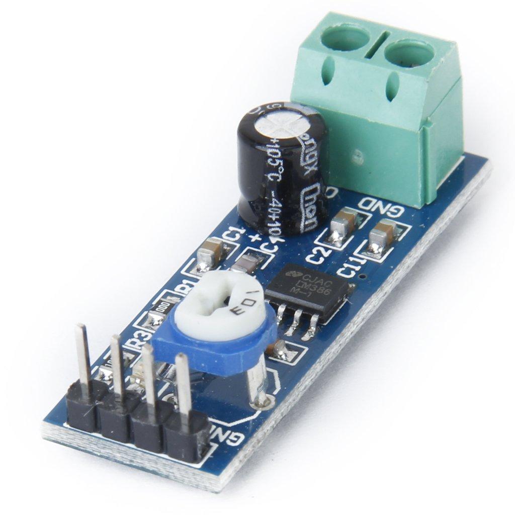 Lm386 Audio Verstrker Modul 200 Mal 5v 12v Elektronik Stereo Circuit Amplifier 595x476