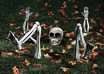 paper magic group spooky home decor lighted ground breakers skeleton body parts - Halloween Decorations Skeleton