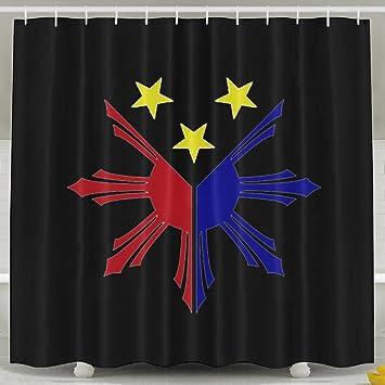 Philippinen Sonne und Sterne Flagge Duschvorhang Stoff Bad ...