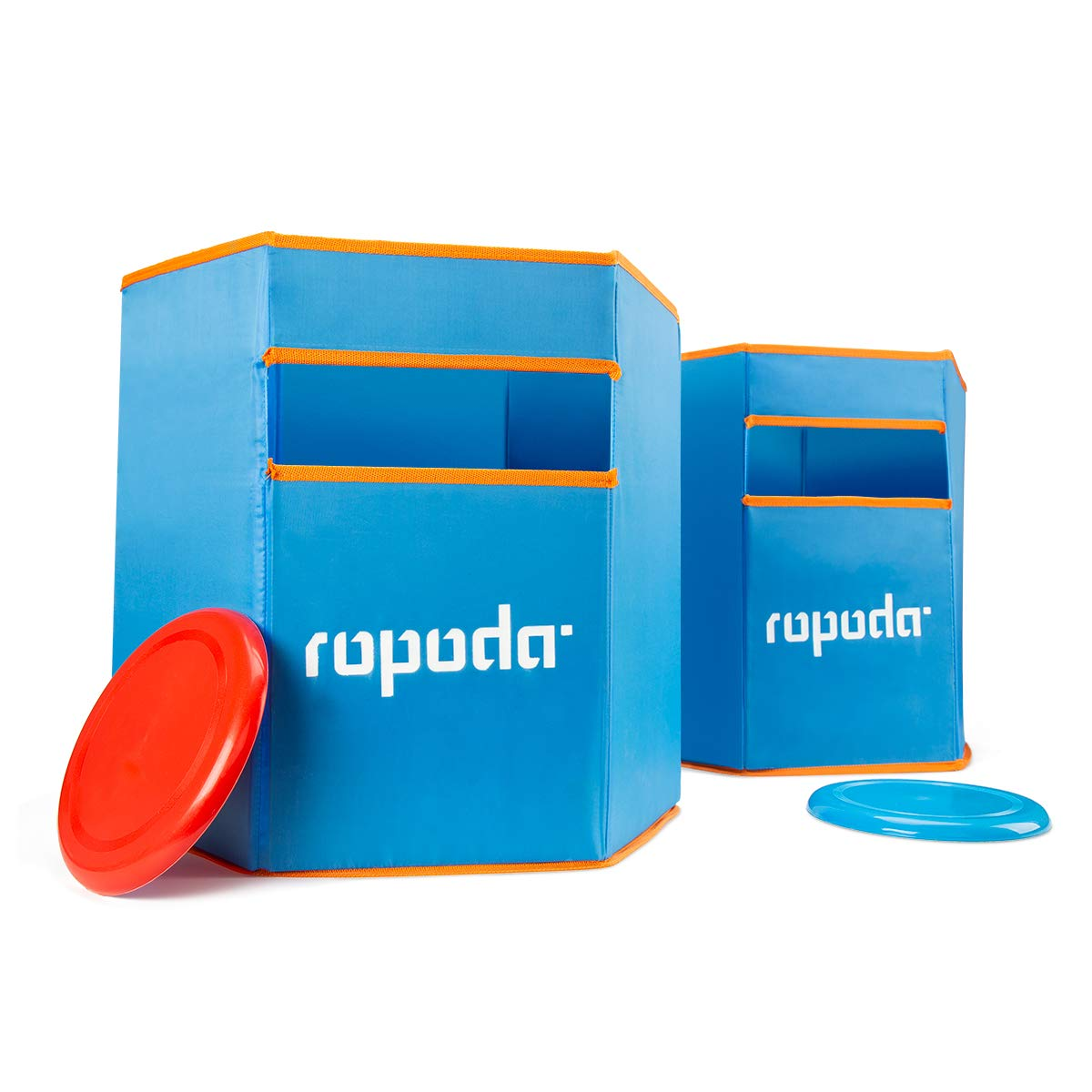 ROPODA Sports Folding Disc Slam - Durable, Weather Resistant Material - Toss Dunk Game Set Includes 2 Disc Slam Targets and 2 Flying Disc by ROPODA