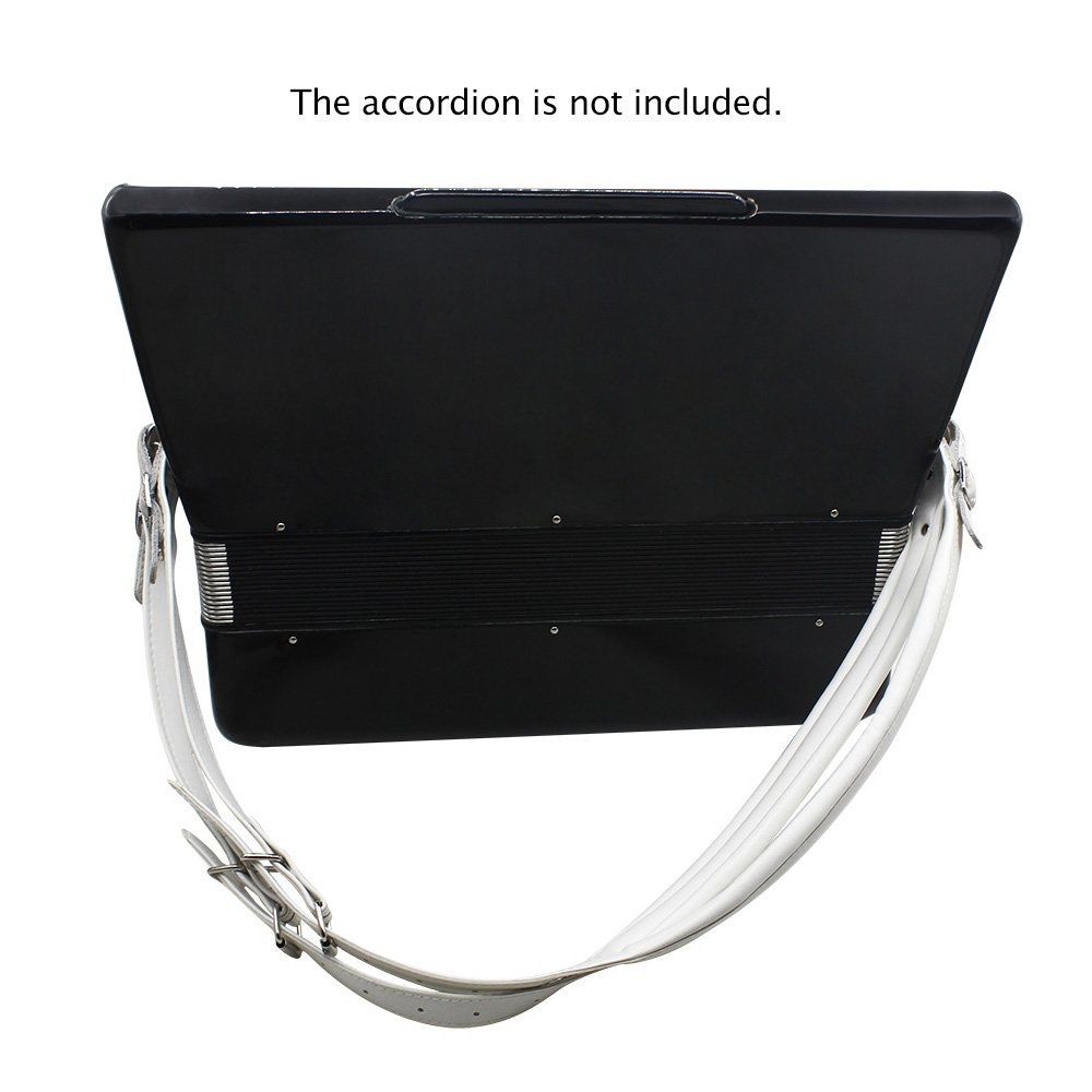 Kalaok One Pair Adjustable Synthetic Leather Accordion Shoulder Straps for 16-120 Bass Accordions by Kalaok (Image #4)