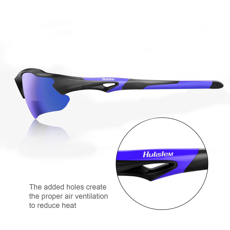 Amazon.com: Gafas de sol polarizadas Hulislem Blade II Sport ...
