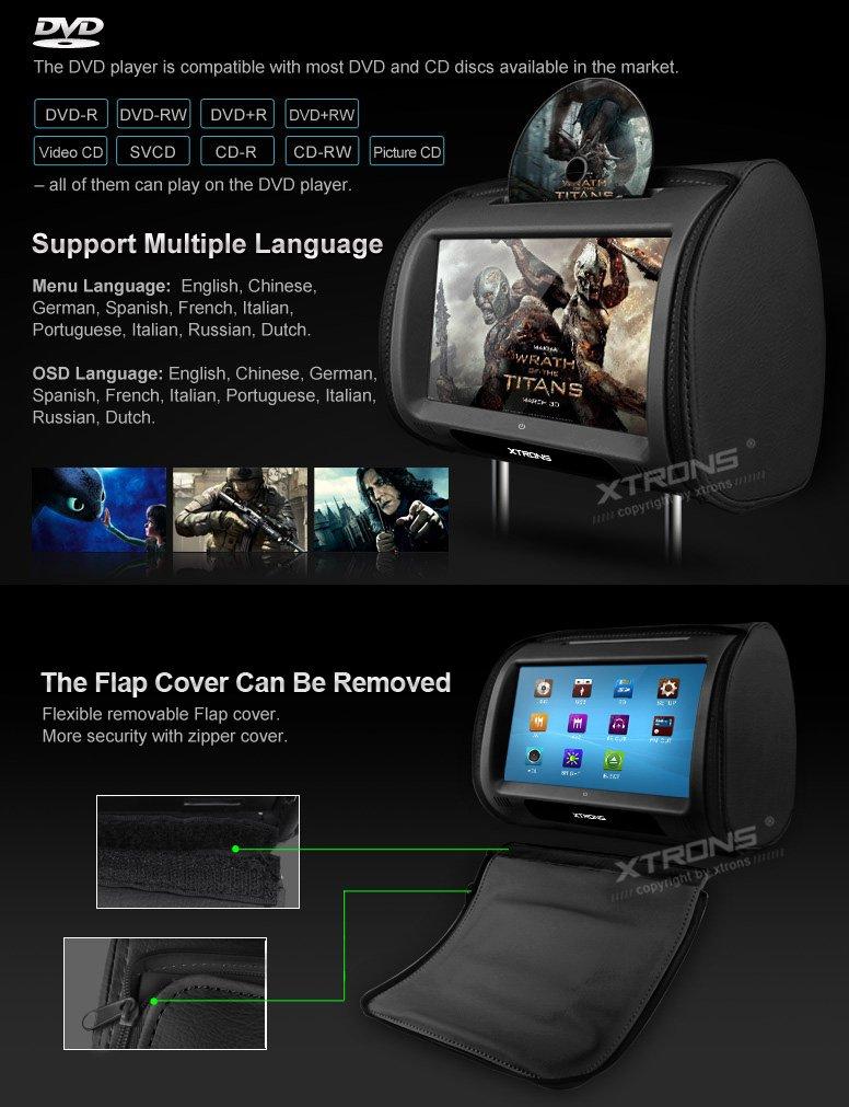 ... Twin Car Headrest DVD Player 9
