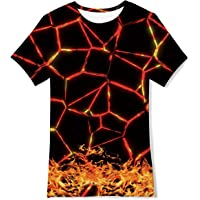 TUONROAD Barn pojkar flickor T-shirts 3D sommar casual toppar 6-14 år