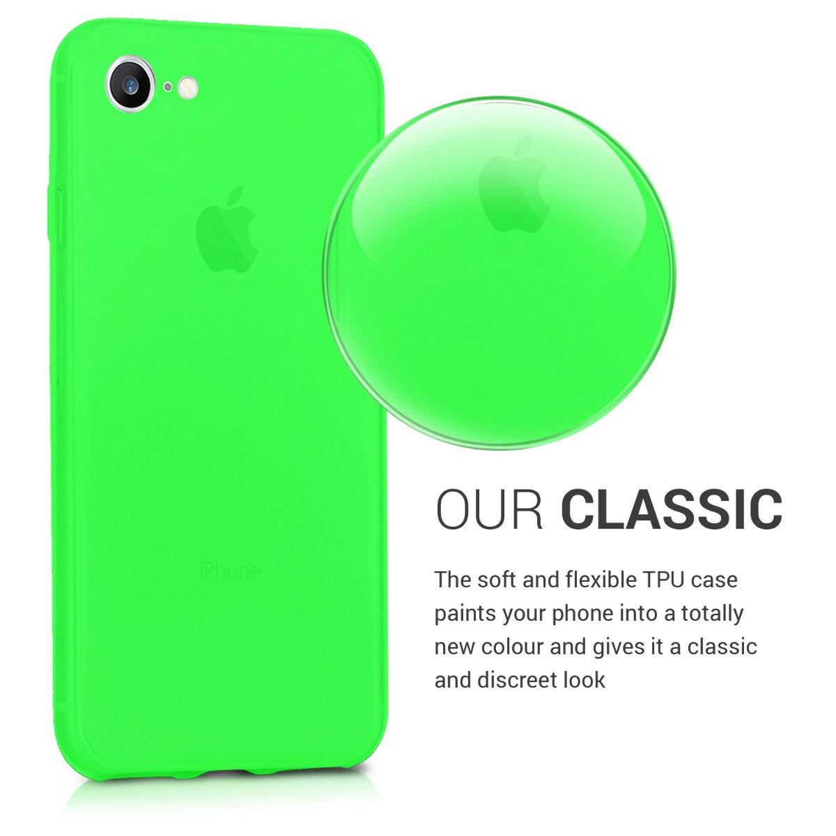 Carcasa de m/óvil de Silicona con Tarjetero y Acabado de Goma Menta kwmobile Funda para Apple iPhone 7//8