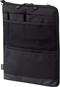 """LIHITLAB Laptop Sleeve, Water & Stain Repellent, Vertical for Backpack, 13.4"""" x 9.8"""", Black (A7683-24)"""